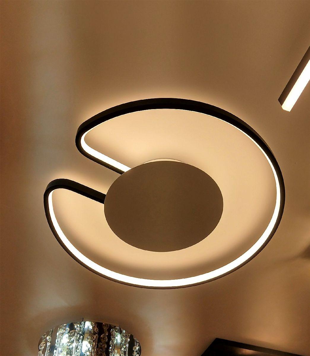 Luminária Plafon De Led Redondo 50cm Para Sala Quarto Corredor Hall Área Gourmet