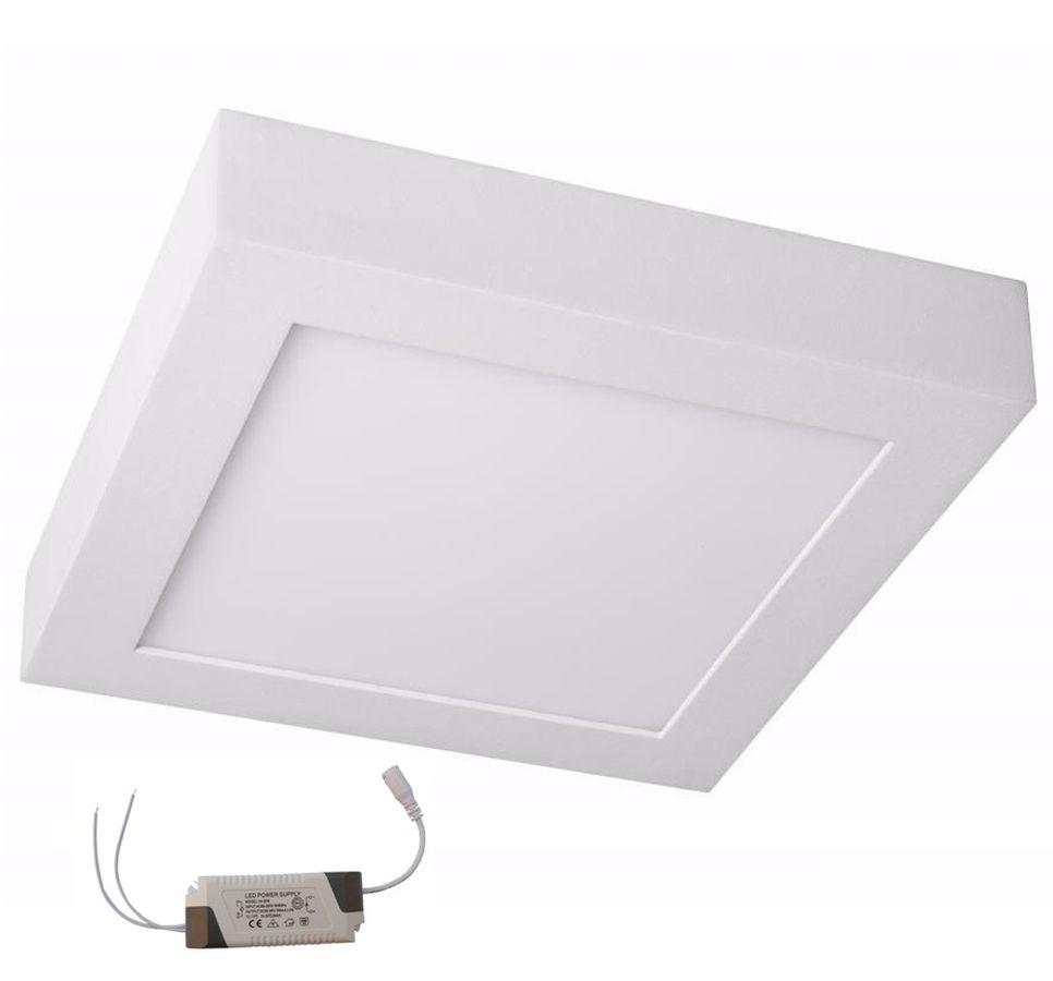 Luminária Plafon Led Sobrepor Quadrado 20w 22,5cm Bivolt Save Energy