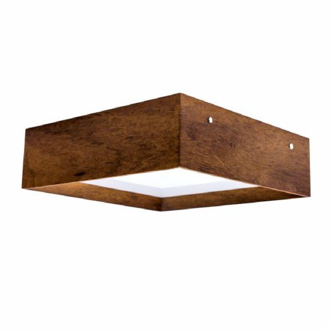 Luminária Plafon Madeira 50cm Sala de Estar Quarto Lavabo Accord