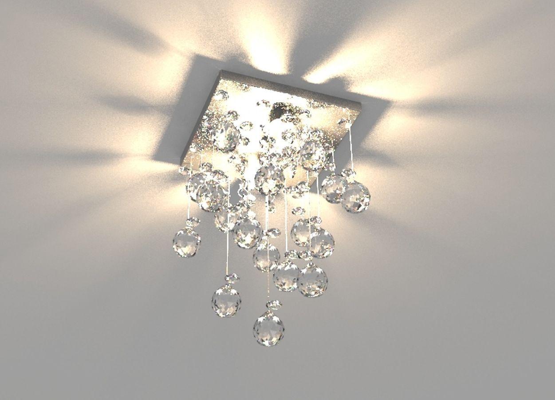 Lustre de Cristal Legitimo 15cm  Corredor Lavabo Hall Entrada Sacada C/ Lâmpada Led