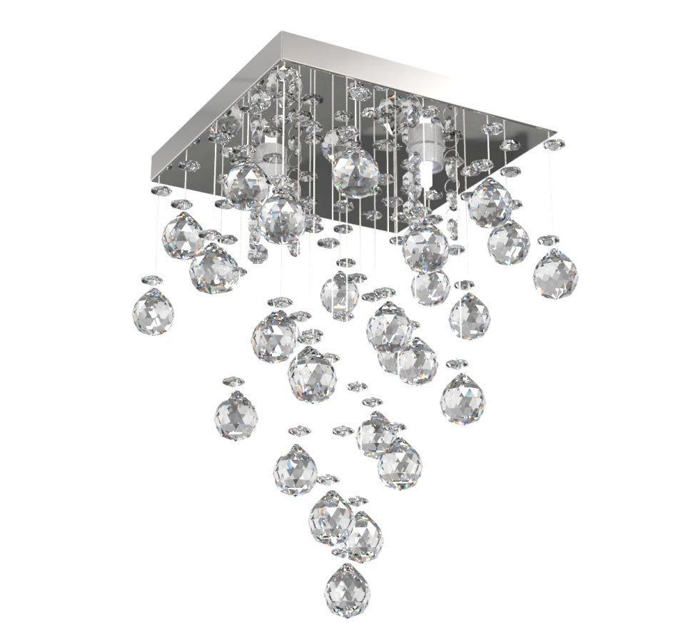 Lustre de Cristal Legitimo 21cm Corredor Lavabo Hall Entrada Sacada C/ Lâmpada Led