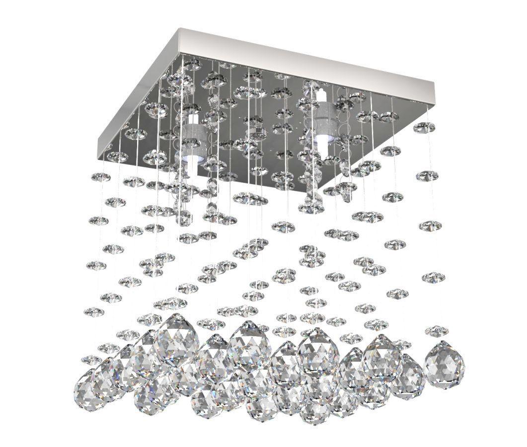 Lustre de Cristal Legitimo 21cm Corredor Lavabo Hall Entrada Loft C/ Lâmpadas Led
