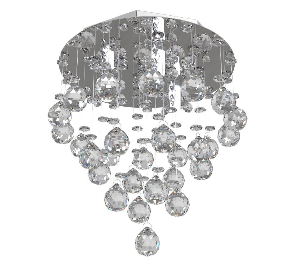 Lustre de Cristal Legitimo 23cm  Corredor Lavabo Hall Entrada Sacada C/ Lâmpadas Led