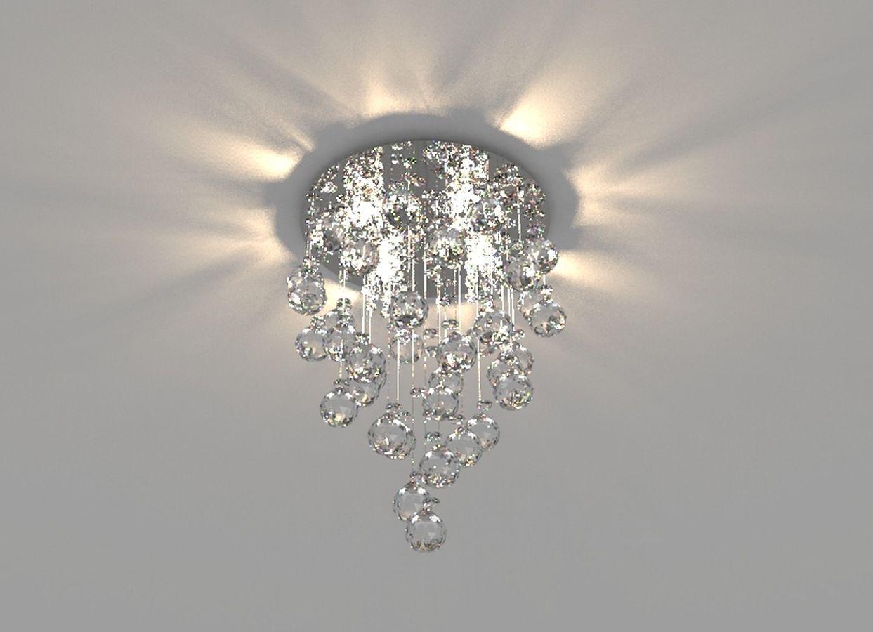 Lustre de Cristal Legitimo 30cm Sala de estar Mesa Jantar Quarto Living Contemporâneo C/ Lâmpada Led