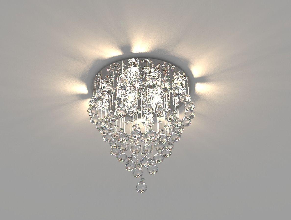 Lustre de Cristal Legitimo 40cm Sala de estar Mesa Jantar Quarto Living C/ Lâmpada Led