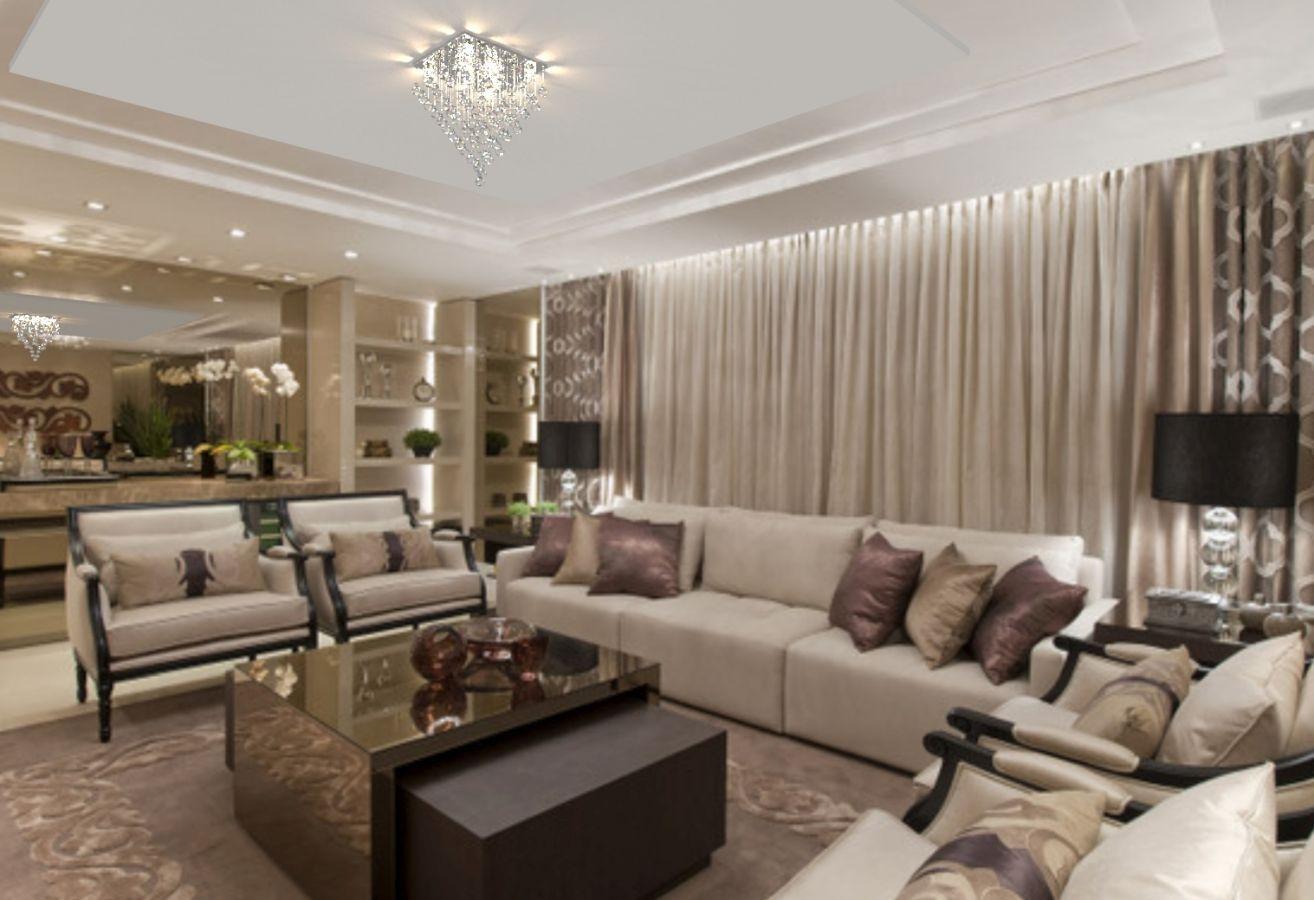 Lustre de Cristal Legitimo 42cm Sala de estar Mesa Jantar Quarto Living  C/ Lâmpada Led