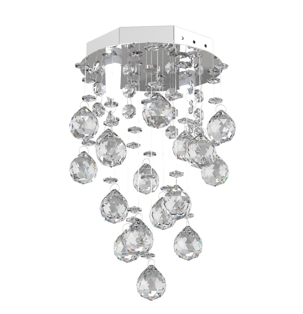 Lustre de Cristal Legitimo 15cm Corredor Lavabo Hall Entrada Sacada L401