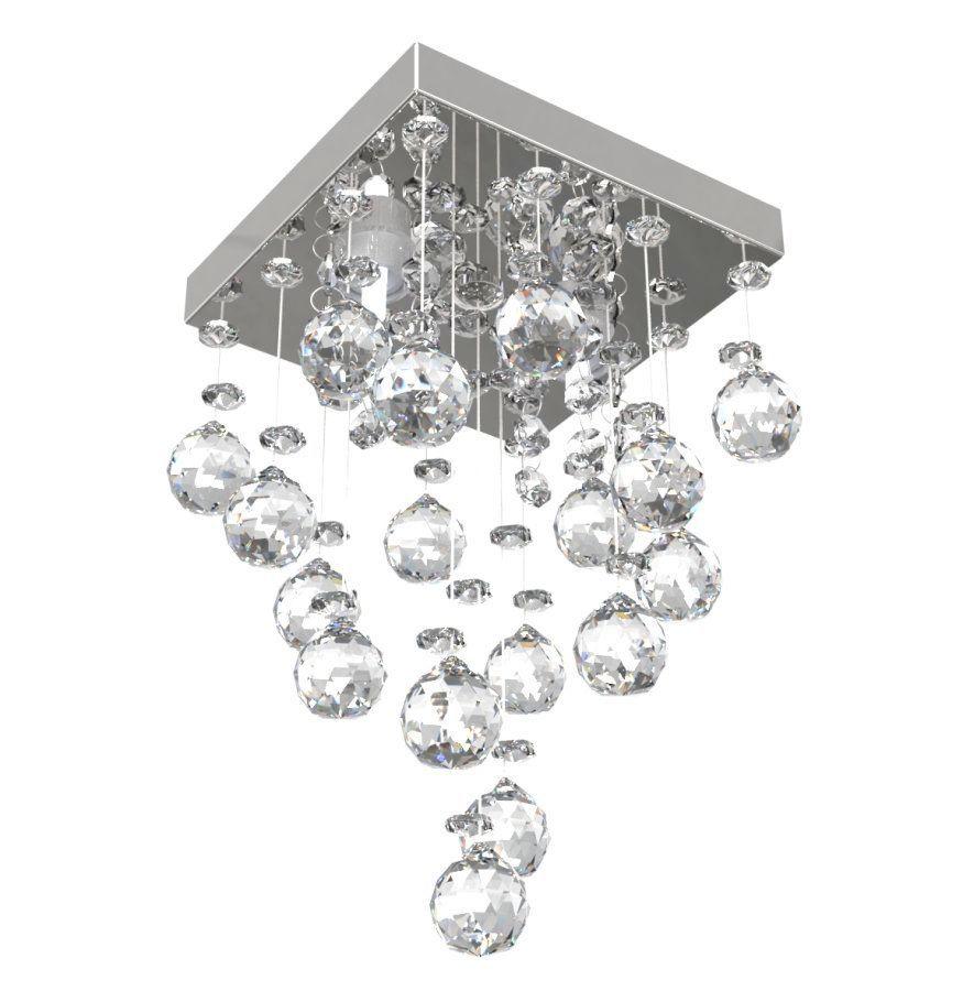 Lustre de Cristal Legitimo 15cm  Corredor Lavabo Hall Entrada Sacada L301