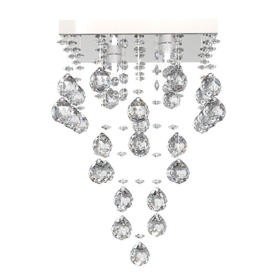 Lustre de Cristal Legitimo 21cm Corredor Lavabo Hall Entrada Sacada L301