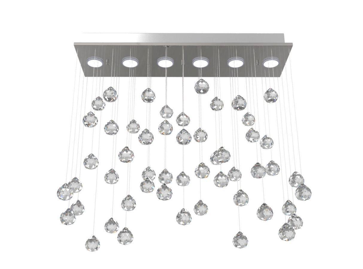Lustre de Cristal Legitimo Aleatório 62X20cm Sala de estar Mesa Jantar Living L305