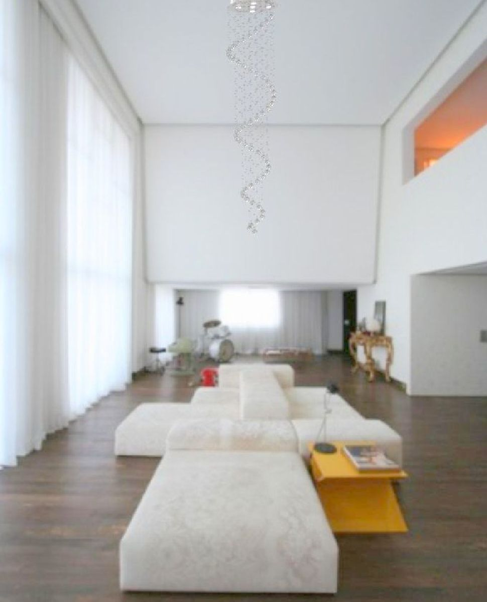 Lustre de Cristal Legitimo Espiral 40cm Pé Direito Duplo Vão de Escada Sala Alta Mesa ESP40 Com Lampadas Led