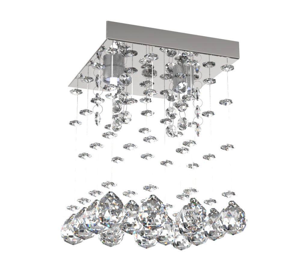 Lustre de Cristal Legitimo 15cm Corredor Lavabo Hall Entrada Sacada L303
