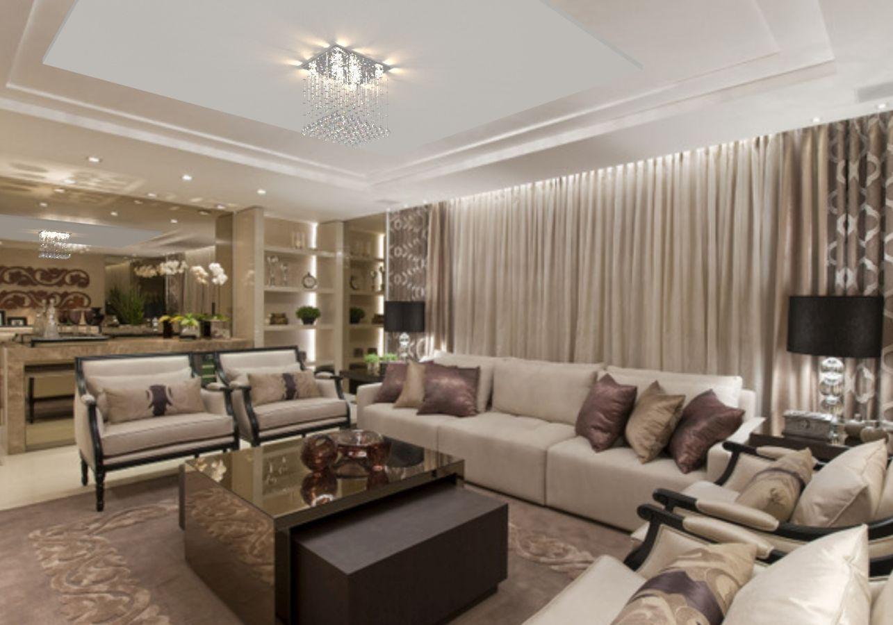 Lustre de Cristal Legitimo 42cm Sala de estar Mesa Jantar Quarto Living L303