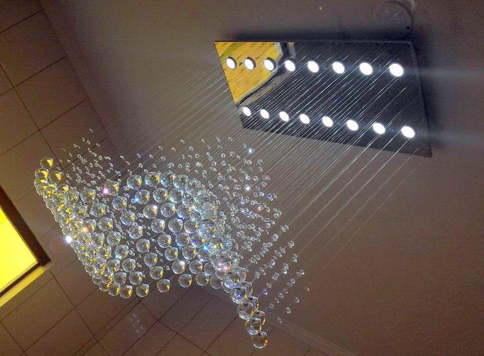 Lustre de Cristal Legitimo Onda 82x40cm Sala de Estar Mesa Jantar Living L304