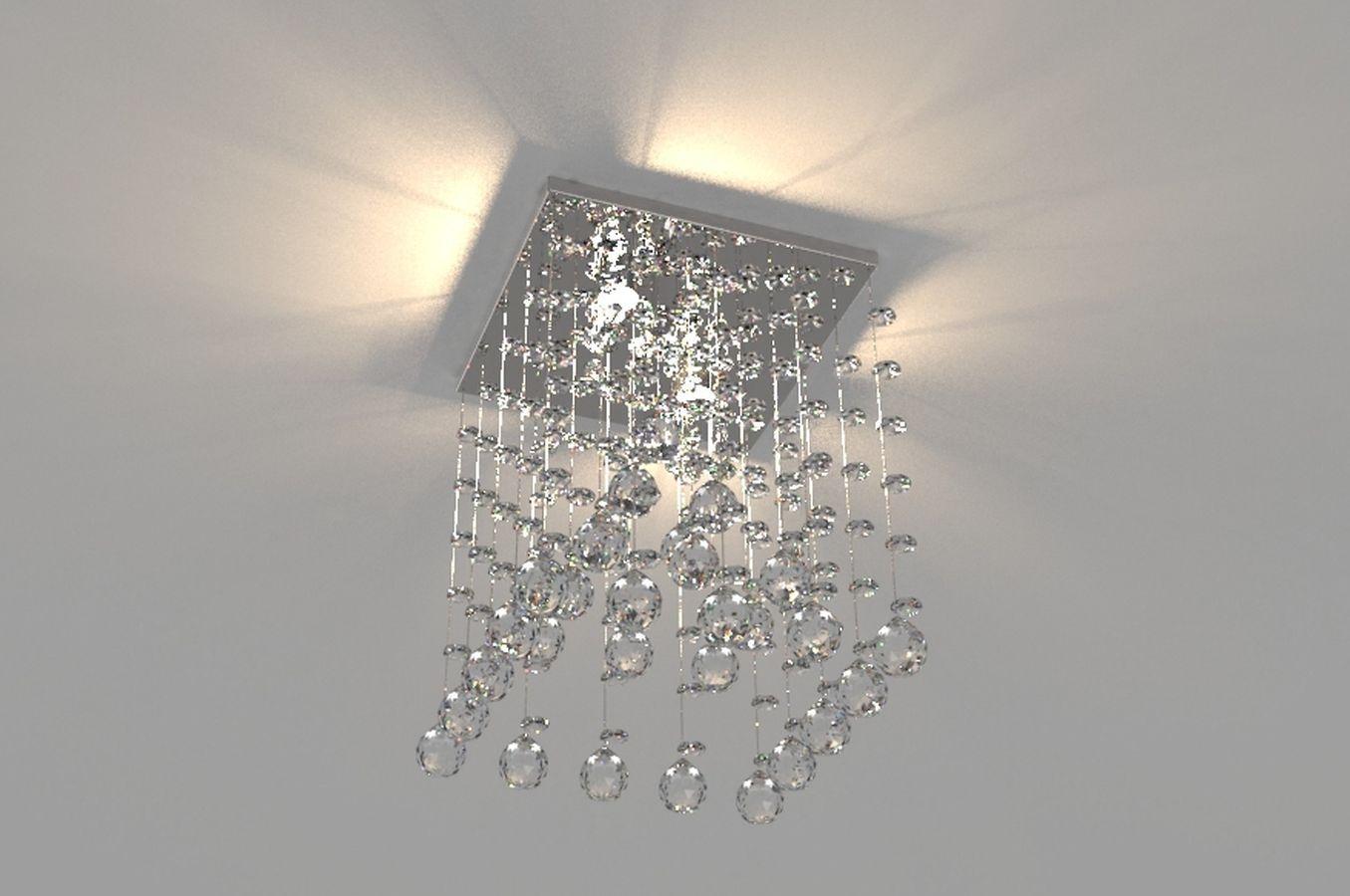 Lustre de Cristal Legitimo Piramide  21cm Corredor Lavabo Hall Entrada Sacada C/ Lâmpadas Led