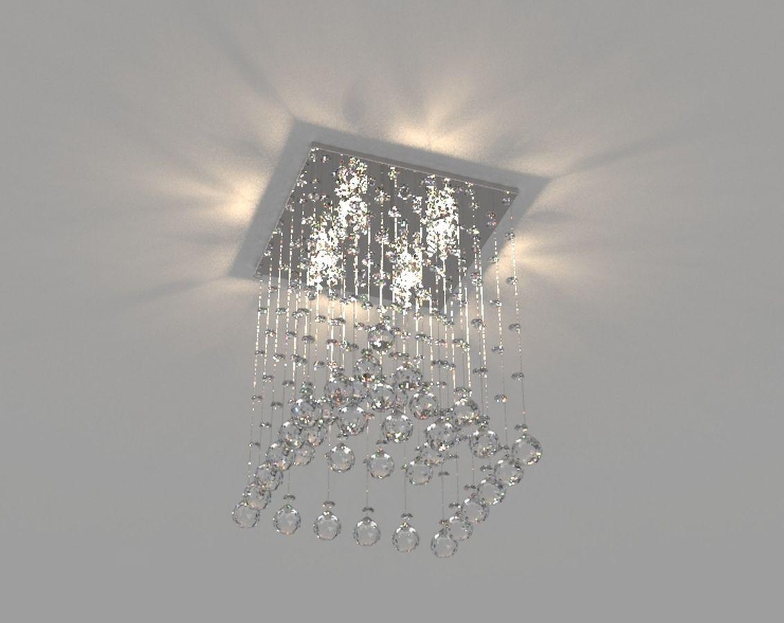 Lustre de Cristal Legitimo Piramide 32cm Sala de estar Mesa Jantar Quarto Living C/ Lâmpadas Led