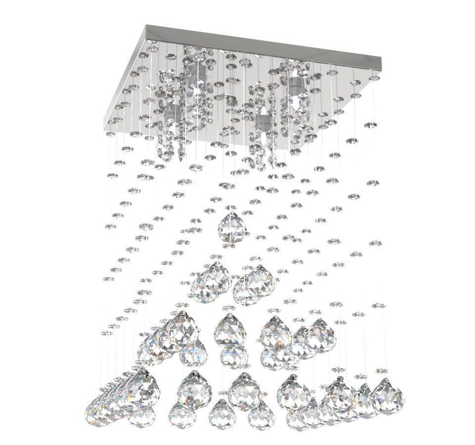 Lustre de Cristal Legitimo Piramide 32cm Sala de estar Mesa Jantar Quarto Living L302