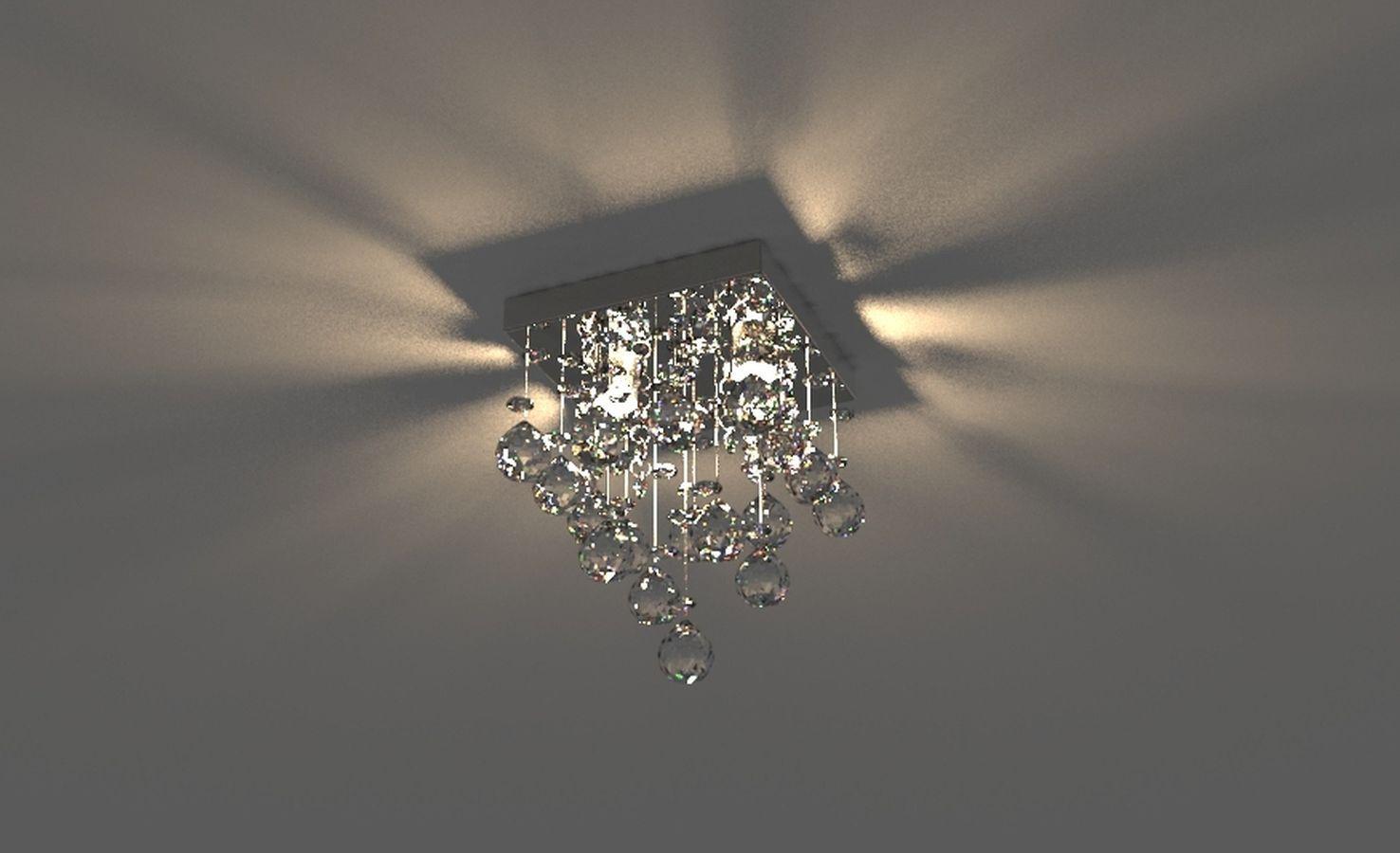 Lustre de Cristal Legitimo 15X15cm Para Lavabo Corredor Banheiro