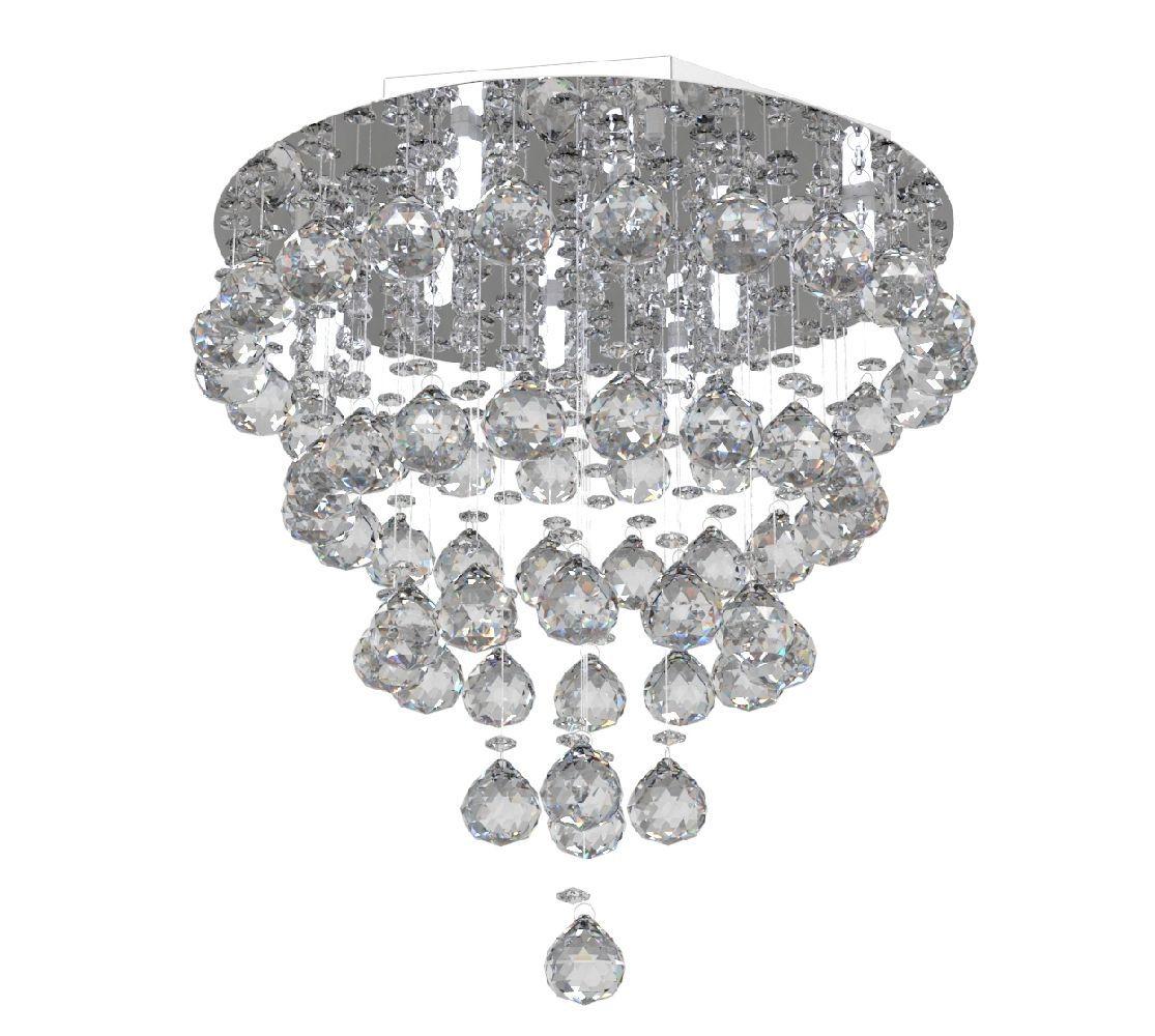 Lustre de Cristal Legitimo 40cm Sala de estar Mesa Jantar Quarto Living