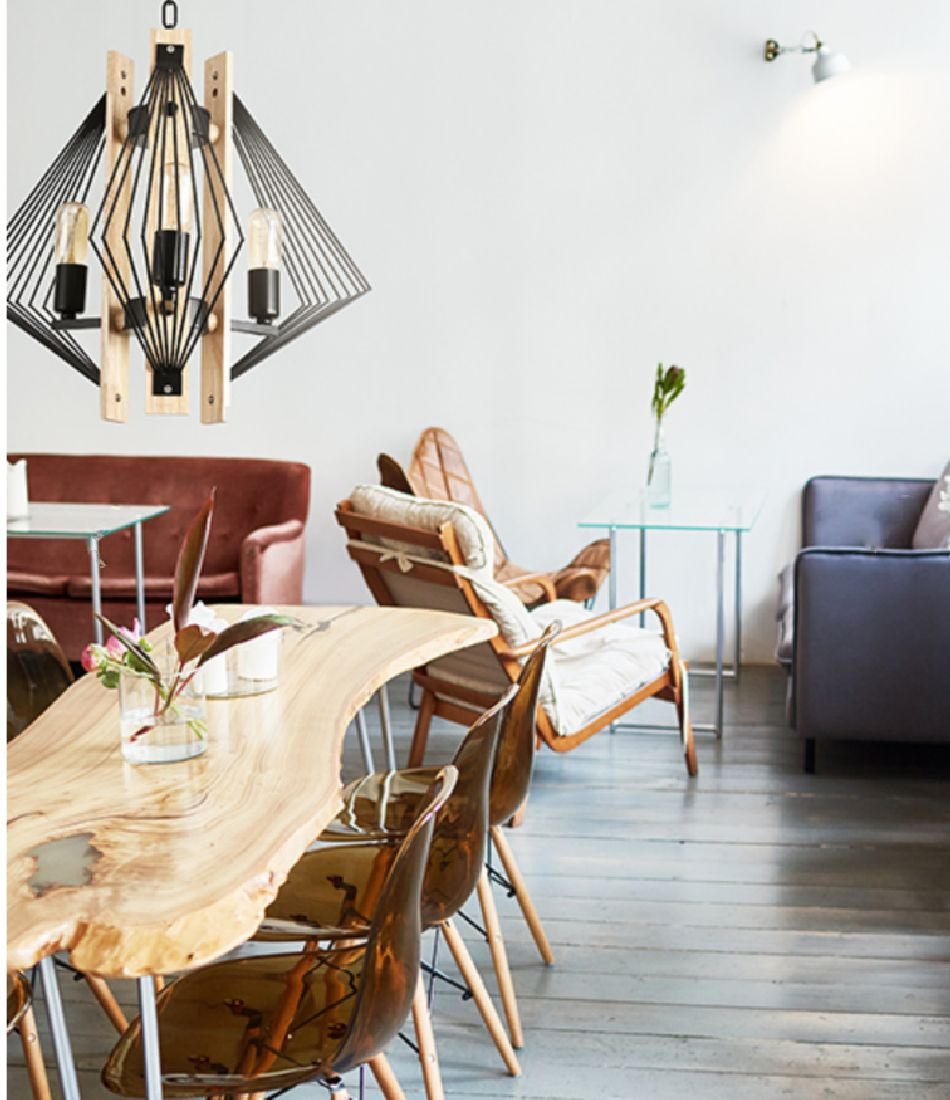 Lustre Pendente Aramado Moderno Mesa Sala Quarto Balcão Cozinha Gourmet