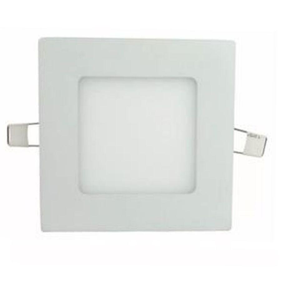 Painel Led Embutir Quadrado 3w 8,5cm Para Gesso Mdf Drywall