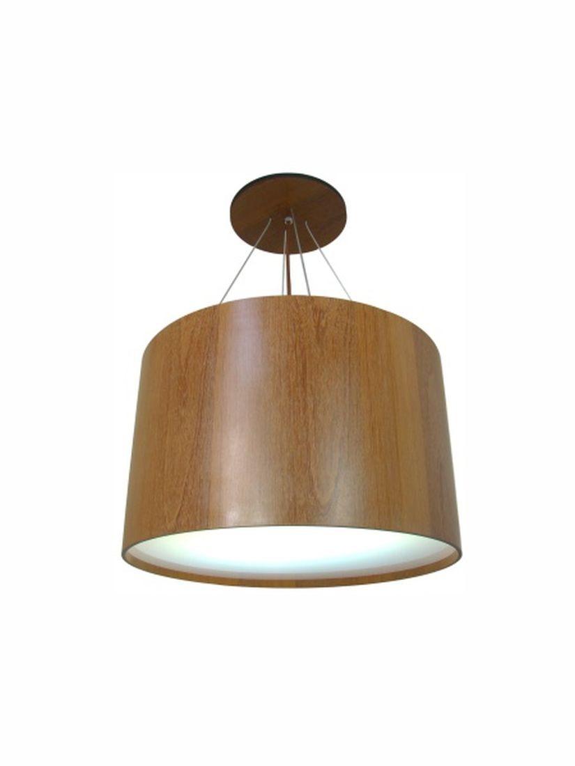 Luminária Pendente Cilindro 45cm Mesa Balcão Bancada Cozinha Área Gourmet