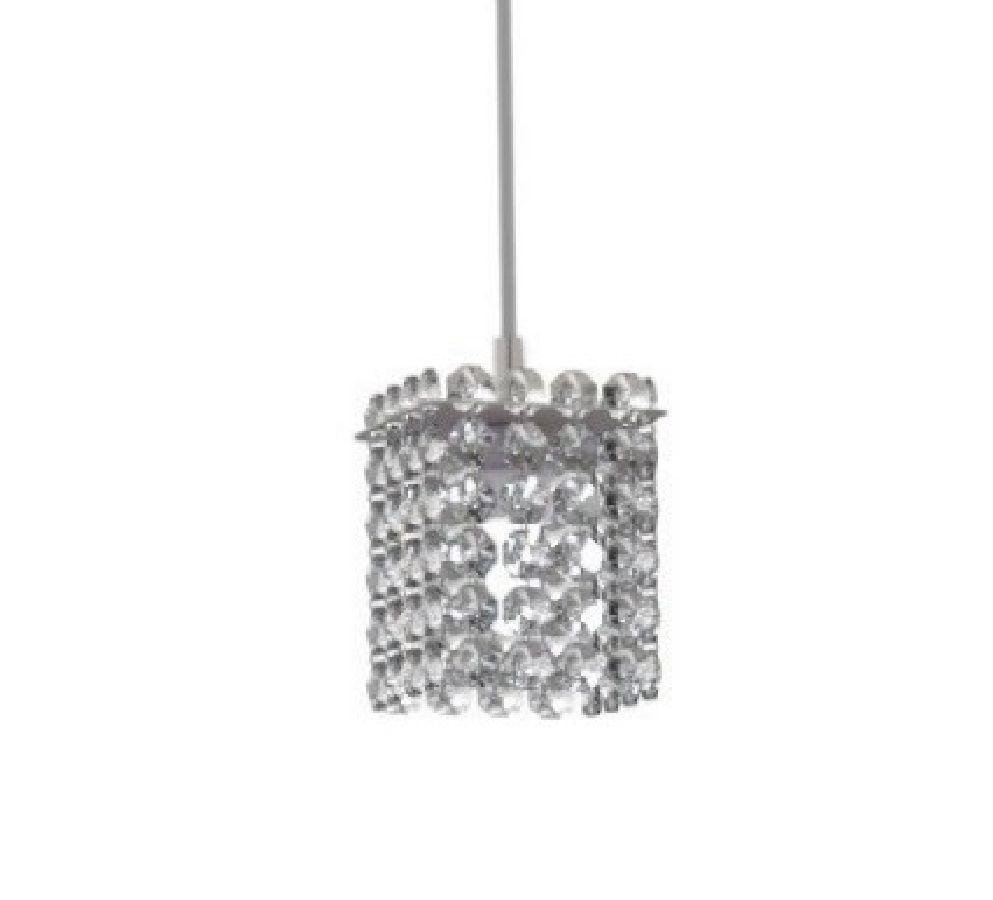 Luminária Pendente De Cristal 8cm Mesa Balcão Quarto Bancada Passa Prato