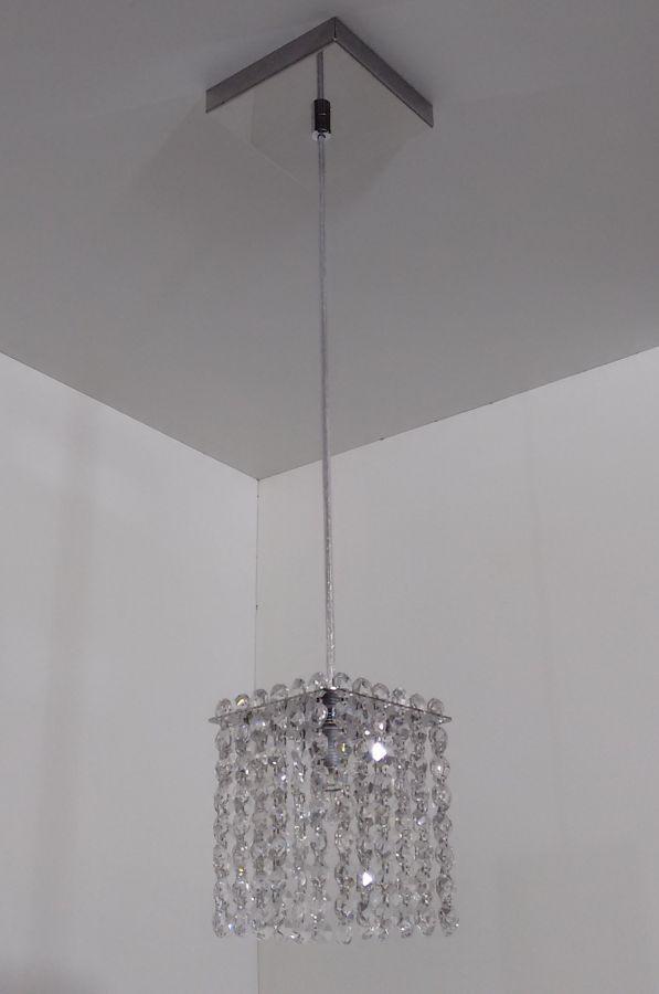 Luminária Pendente De Cristal 11cm Mesa Balcão Quarto Bancada Passa Prato