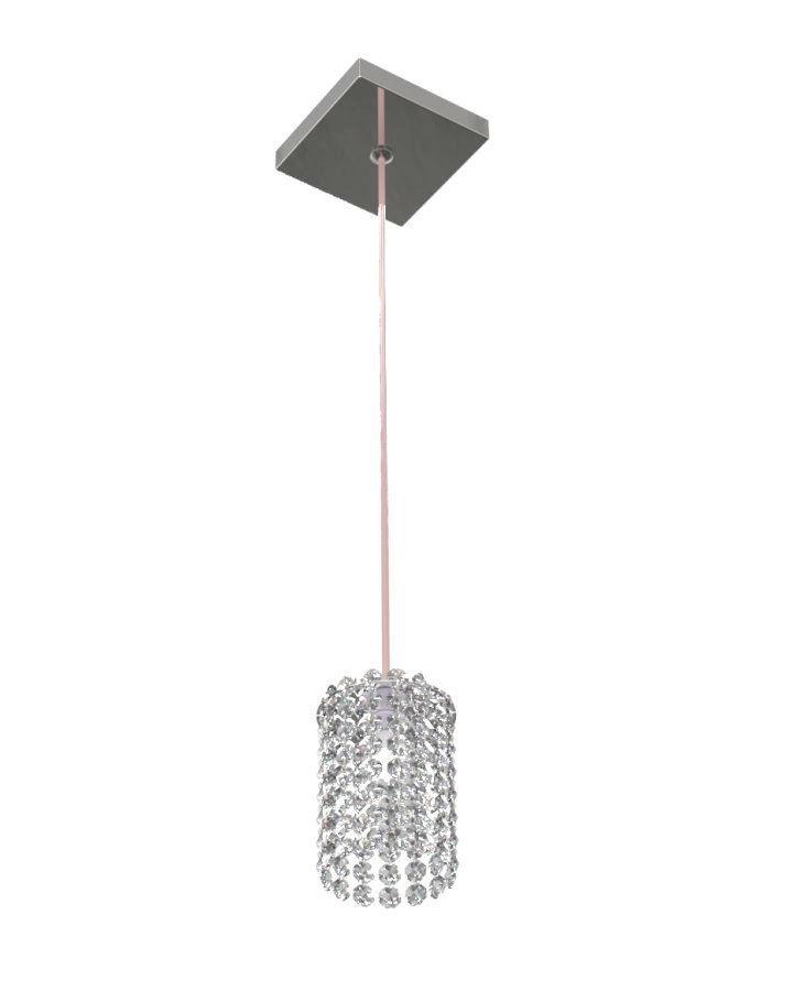 Luminária Pendente De Cristal 9cm Mesa Balcão Quarto Bancada Passa Prato