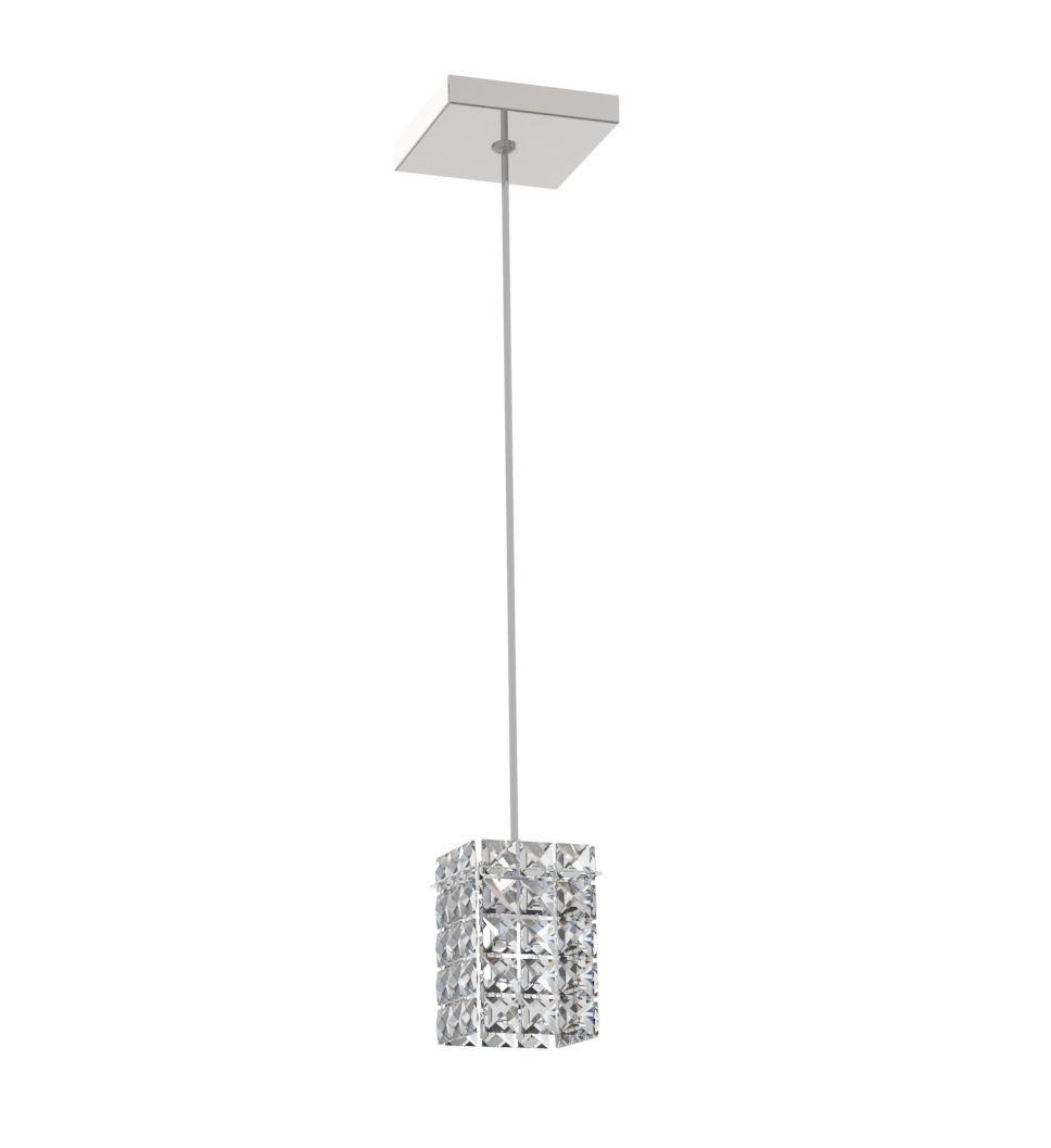 Luminária Pendente De Cristal 7cm Mesa Balcão Quarto Bancada Passa Prato