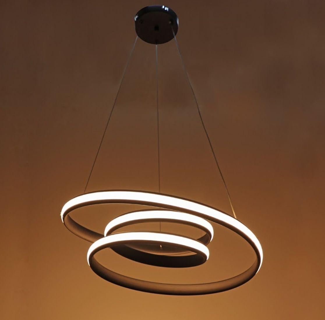 Pendente Led Infinity 57cm Mesa Sala De Jantar Gourmet Quarto
