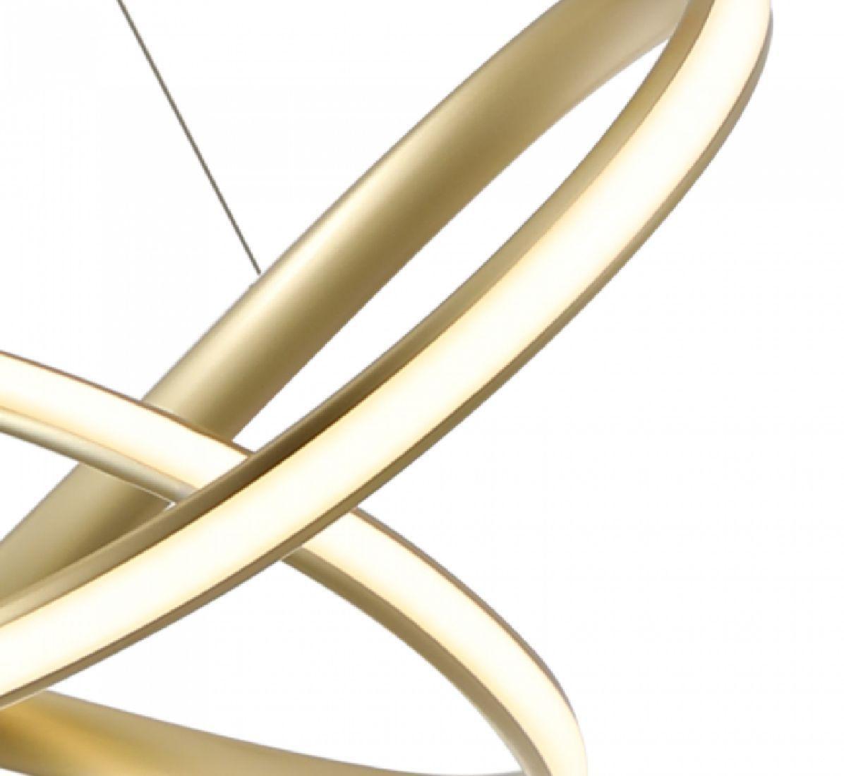 Pendente Led Moderno 63cm Dourado Sala Mesa Bancada Gourmet