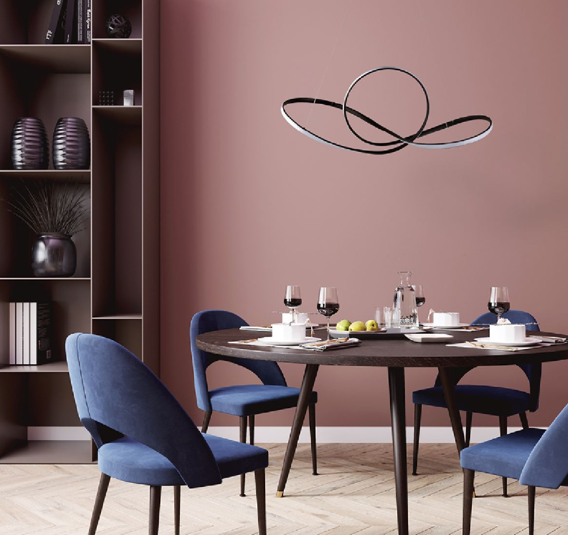 Pendente Led Moderno 80cm Mesa Gourmet Sala De Jantar Quarto