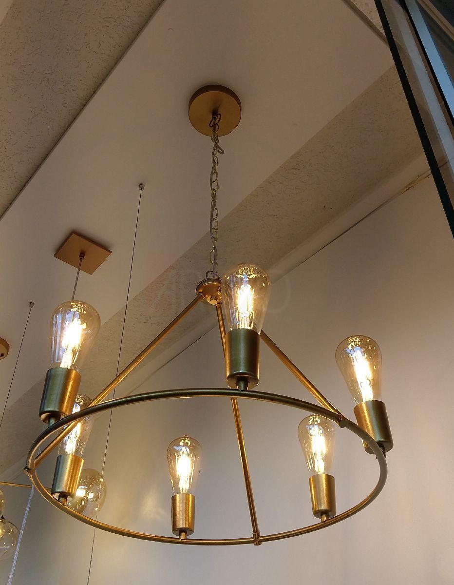 Pendente Industrial Nórdico Com Lâmp Led Para Sala Mesa Cozinha Gourmet Churrasqueira