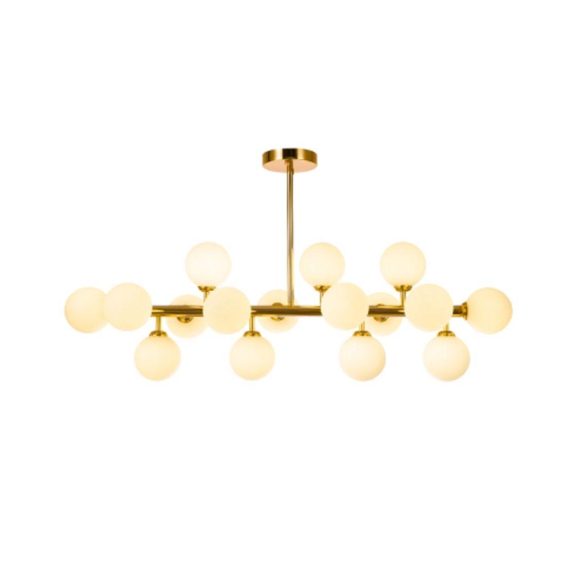 Pendente Jabuticaba Dourado 16 Lâmpadas Para Mesa de Jantar Sala Bancada Área Gourmet