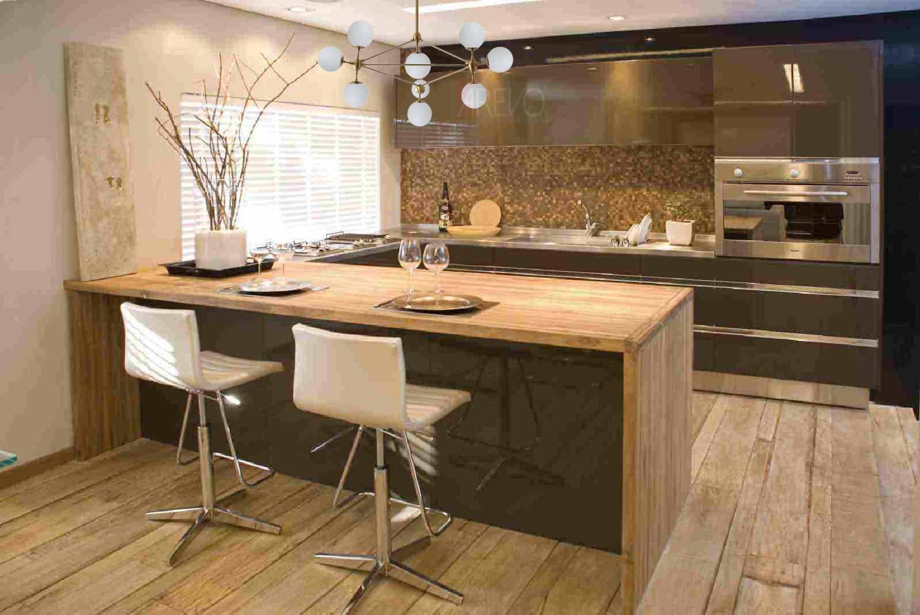 Pendente Jabuticaba Moderno Bronze Mesa Sala Cozinha C/ Led