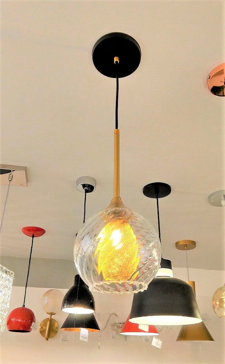 Pendente Moderno Vidro 15cm Bancada Balcão Cozinha Gourmet Cabeceira de Cama
