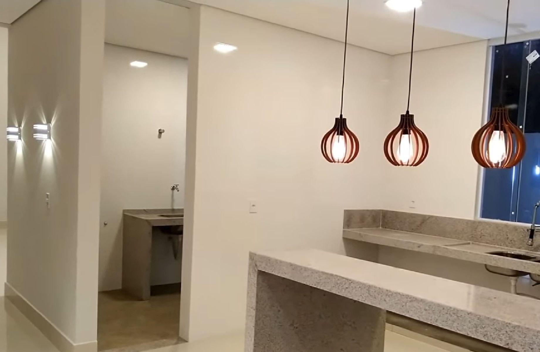 Luminária Pendente Ripado Gota 30cm Mesa Balcão Bancada Área Gourmet