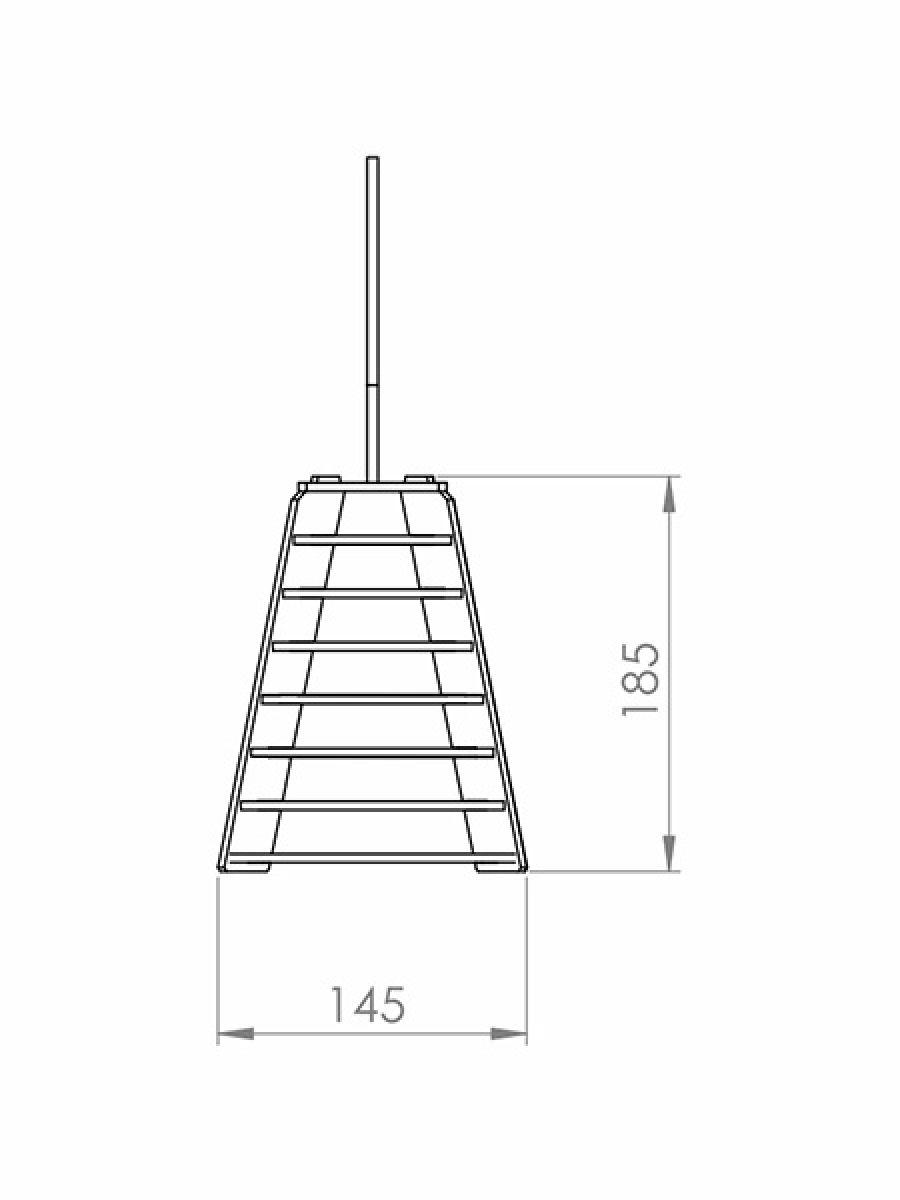 Luminária Pendente Madeira Imbuia Sino 14cm Para Mesa Balcão Bancada Área Gourmet Cabeceira de Cama