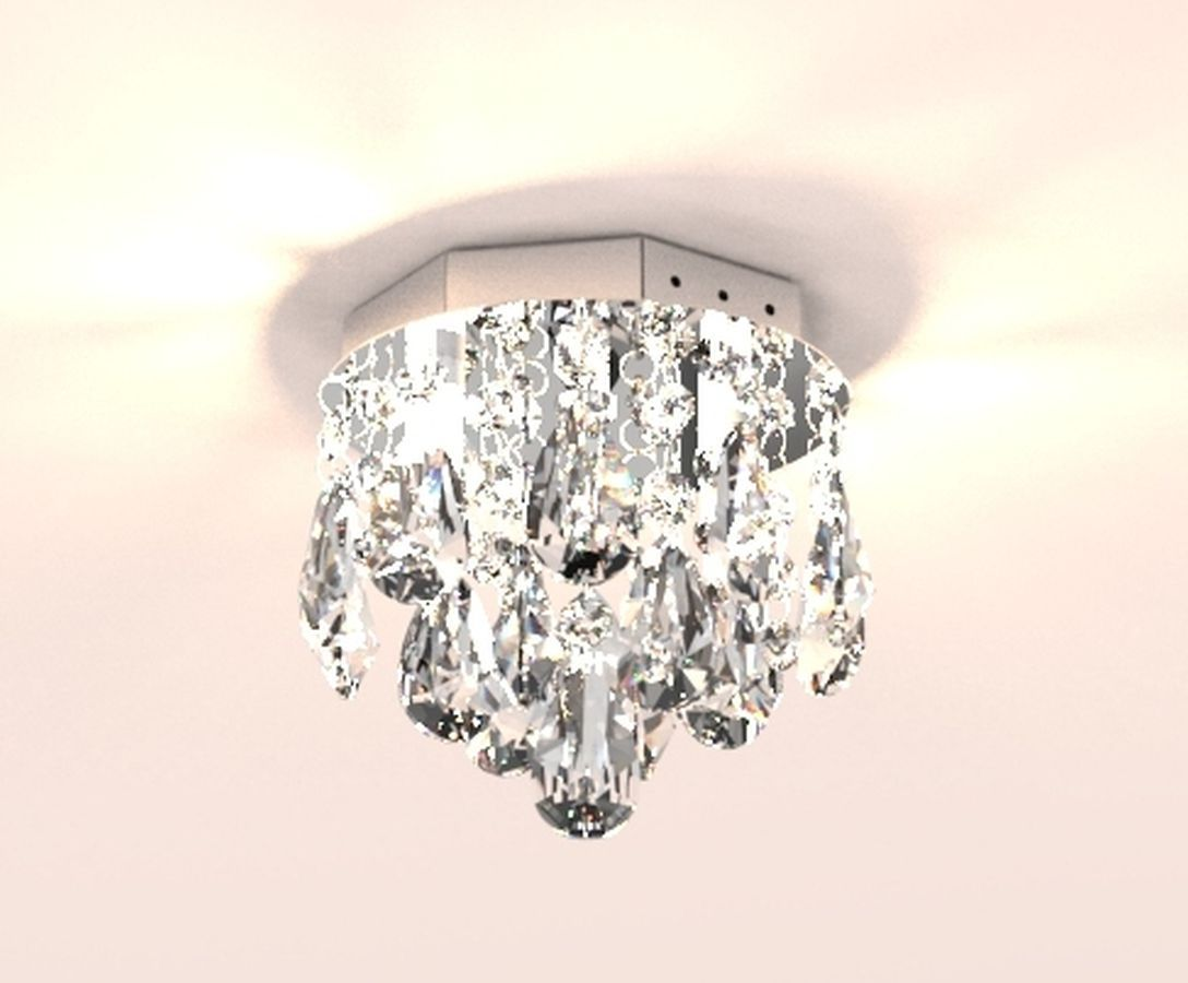Plafon Lustre de Cristal Legitimo 15cm Para Lavabo Corredor Sacada C/ Lâmpadas Led
