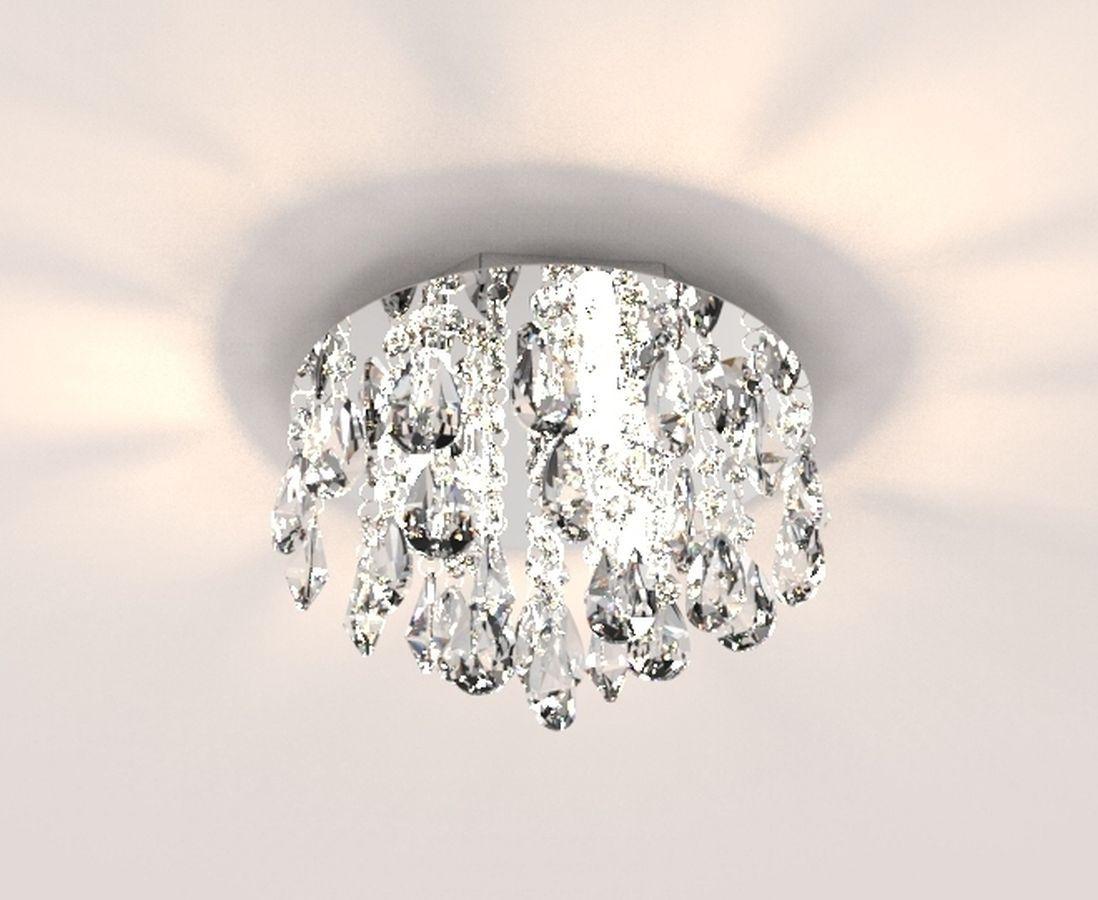 Plafon Lustre de Cristal Legitimo 23cm Quarto Lavabo Hall Entrada Sacada Corredor C/ Lâmpadas Led