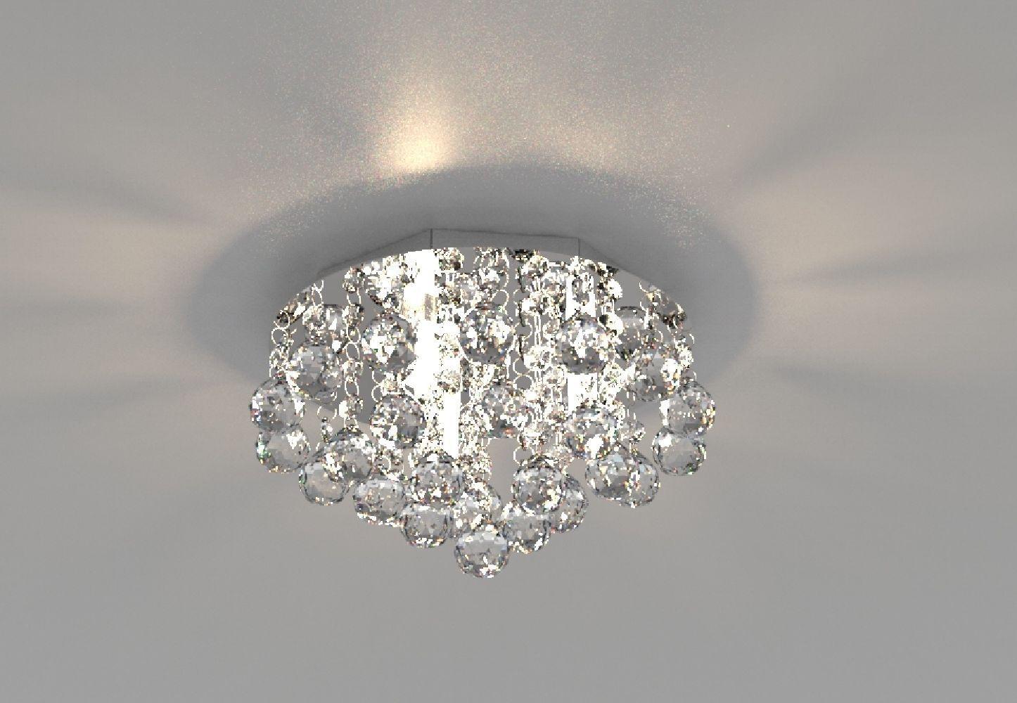 Plafon de Cristal Legitimo 23cm Quarto Sala Hall Entrada Sacada Corredor C/ Lâmpadas Led