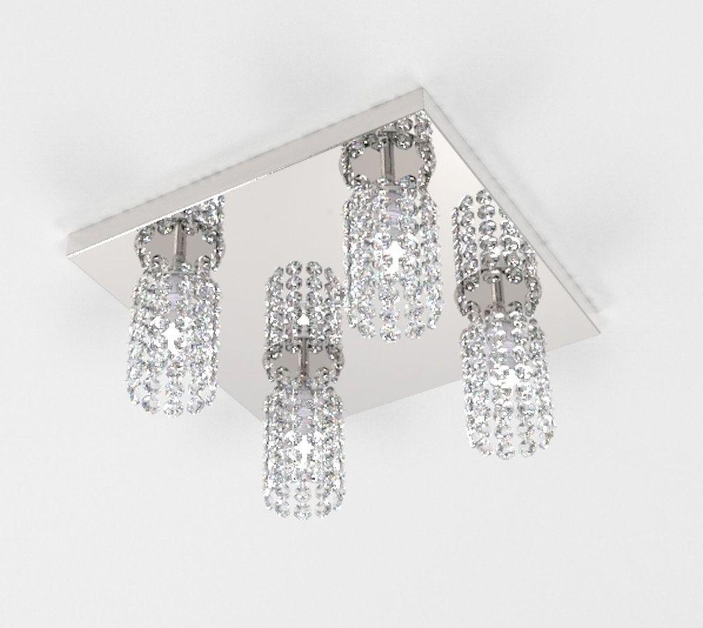Plafon de Cristal Legitimo 30X30cm Mesa Balcão Bancada Passa Prato C/ Lâmpadas Led