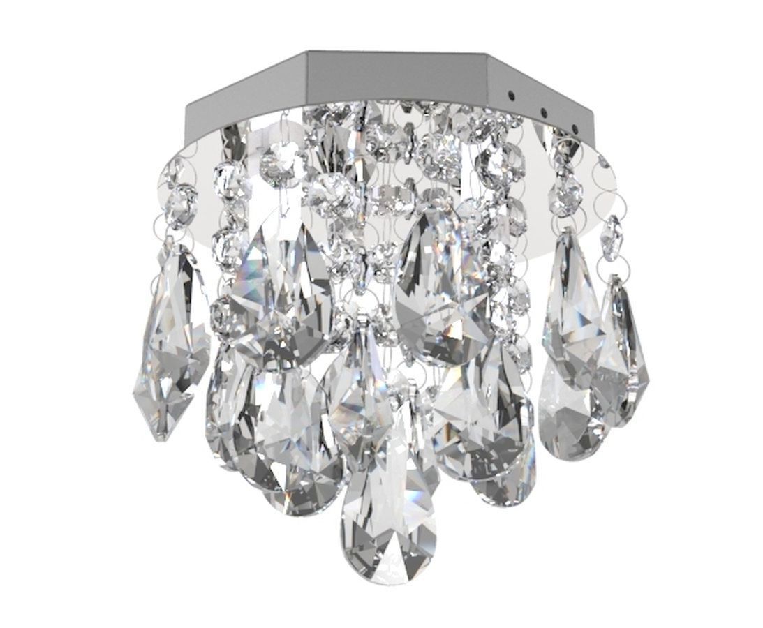 Plafon de Cristal Legitimo 15cm Lustre Para Lavabo Corredor