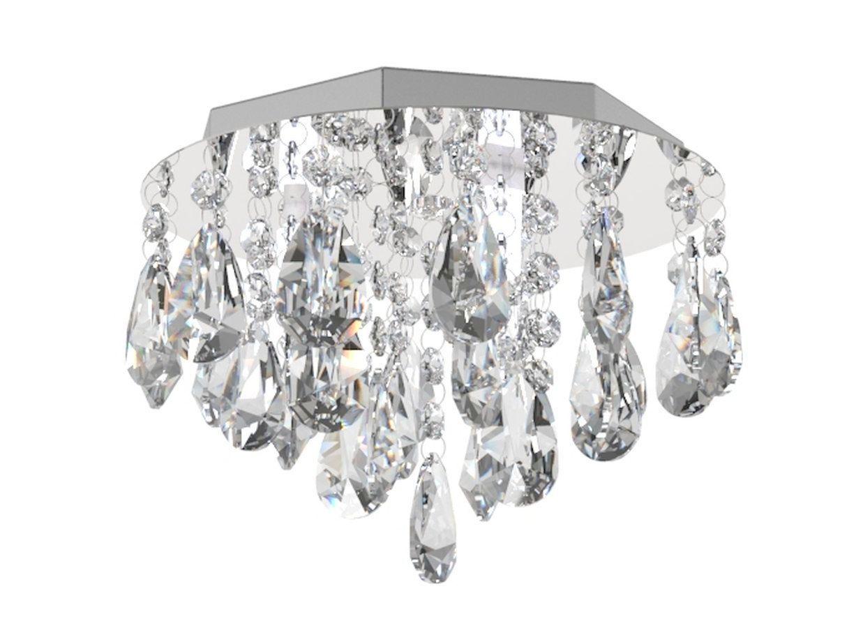 Plafon de Cristal Legitimo 23cm Quarto Lavabo Hall Entrada Sacada Corredor
