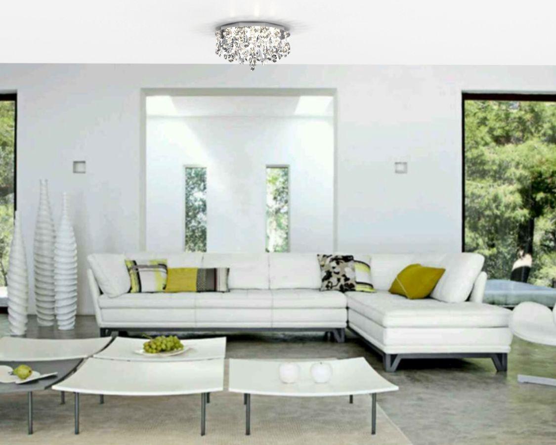 Plafon de Cristal Legitimo 30cm Quarto Sala Estar Living Hall Entrada Balcão