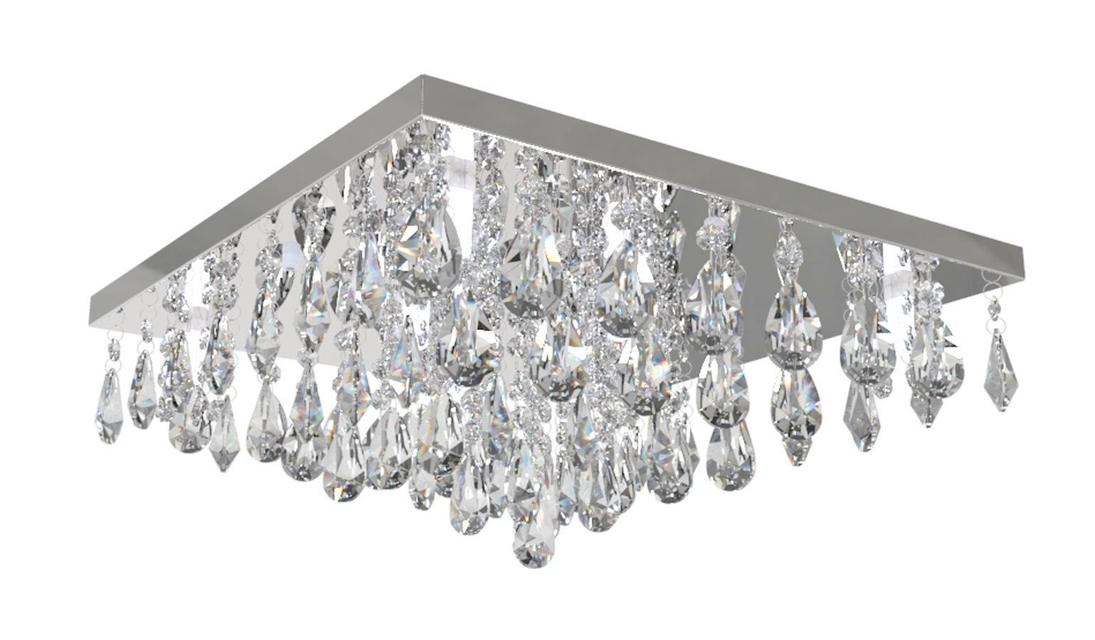 Plafon Lustre de Cristal Legitimo 42cm Sala de estar Mesa Jantar Quarto Living Ático