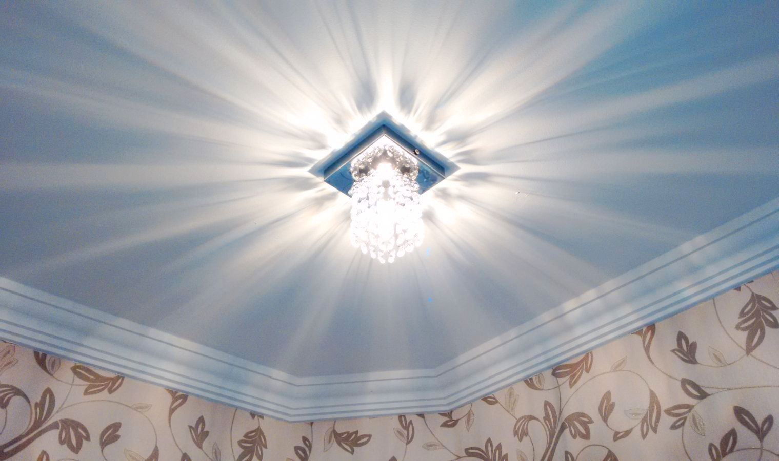 Luminária Plafon De Cristal Quadrado 12cm Balcão Bancada Passa Prato Corredor