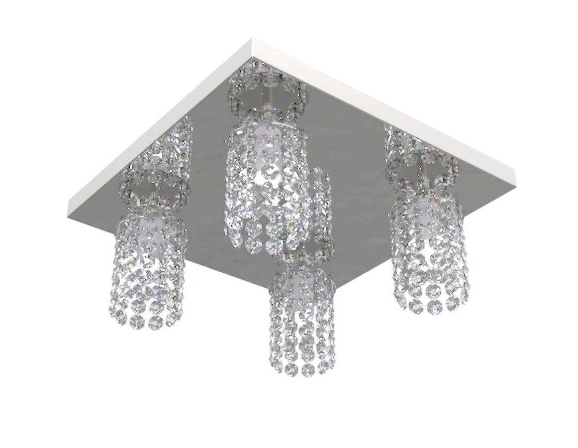 Plafon de Cristal Legitimo 30X30cm Mesa Balcão Bancada Sala
