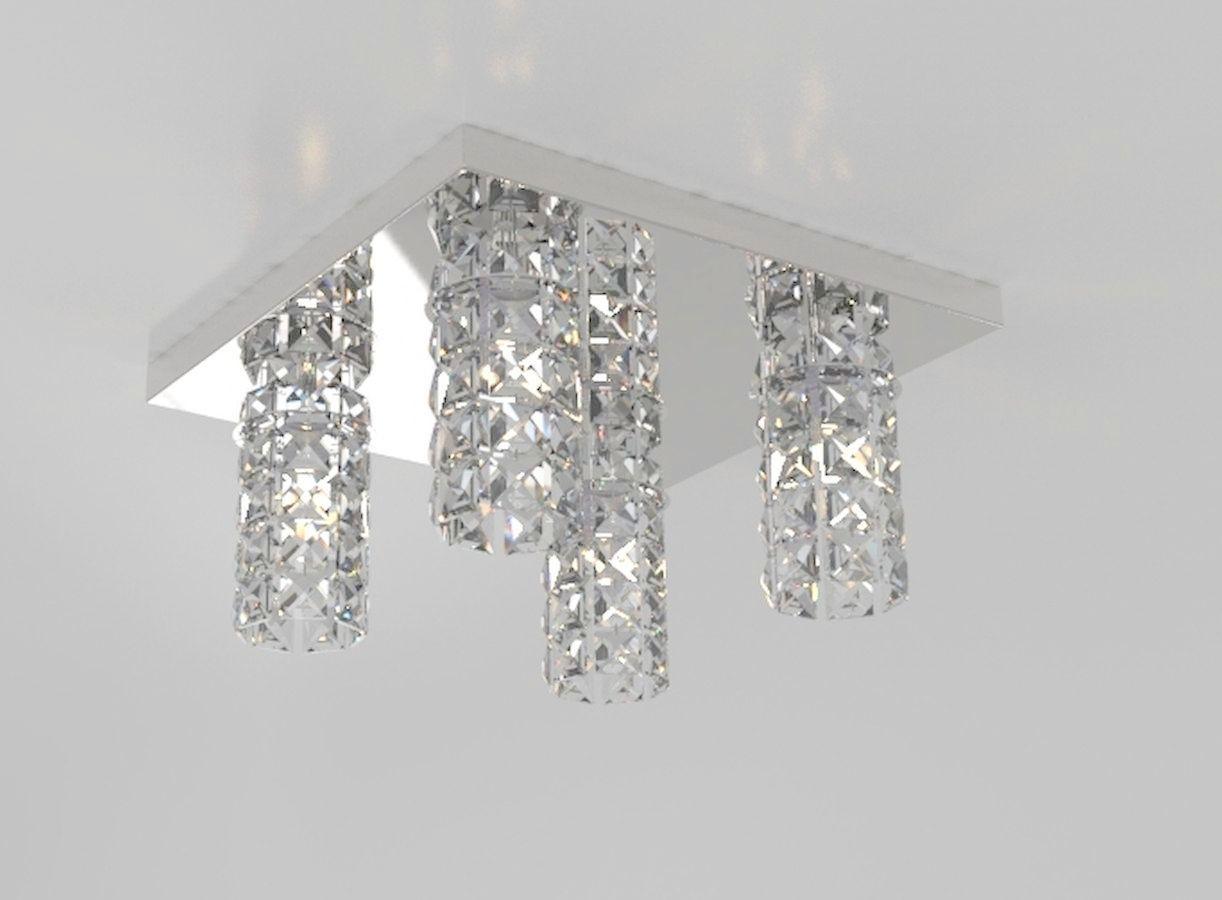 Plafon de Cristal Legitimo L30X30cm Balcão Bancada Sala Corredor